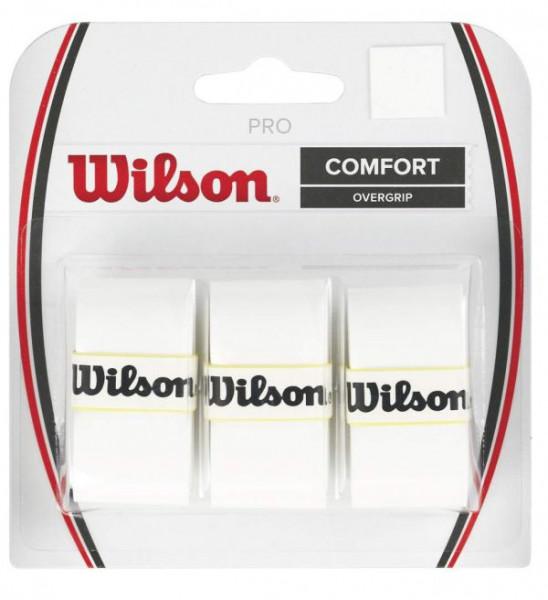 Tenisa overgripu Wilson Pro 3P - white