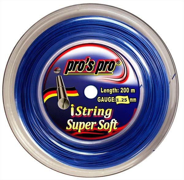 Tenisa stīgas Pro's Pro iString Super Soft (200 m) - blue