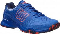 Damskie buty tenisowe Wilson Kaos Comp W - amparo blue/surf the web/fiery coral