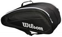 Torba tenisowa Wilson Fed Team 12 Pk Bag - black/white