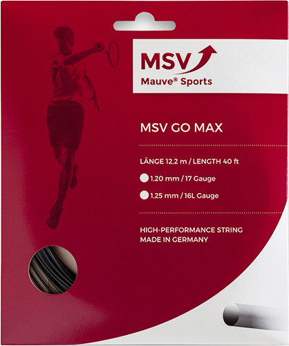 Teniso stygos MSV Go Max (12 m) - black