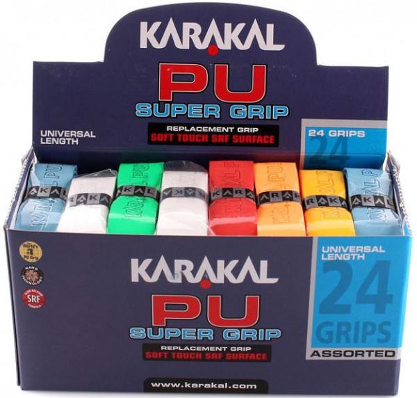 Grip - replacement Karakal PU Super Grip (1 szt.) - white/yellow/blue