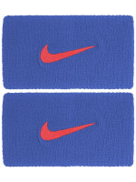 Nike Swoosh Double-Wide Wristbands - pacific blue/university red