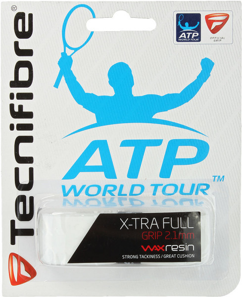 Owijki tenisowe bazowe Tecnifibre X-Tra Full white 1P