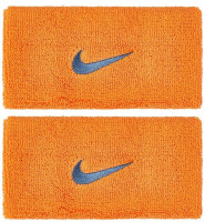 Frotka tenisowa Nike Swoosh Double-Wide Wristbands - alpha orange/thunderstorm