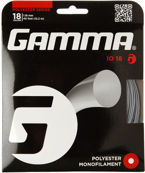 Tenisa stīgas Gamma iO (12.2 m) - silver