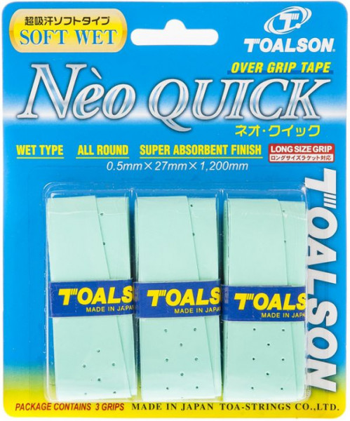 Owijki tenisowe Toalson Neo Quick 3P - green