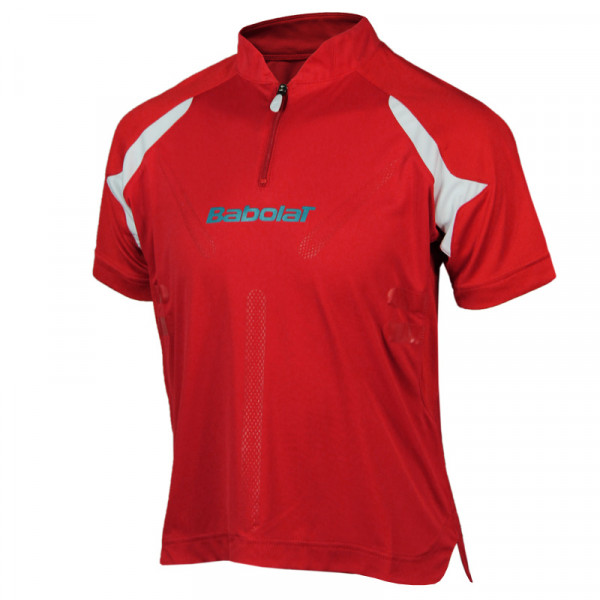 Babolat Polo Half Zip Boy Performance - red