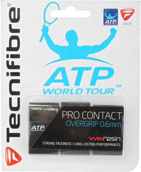 Owijki tenisowe Tecnifibre Pro Contact 3P - black