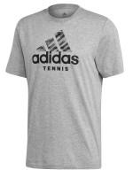 Teniso marškinėliai vyrams Adidas Cat Badge Of Sport - grey heather