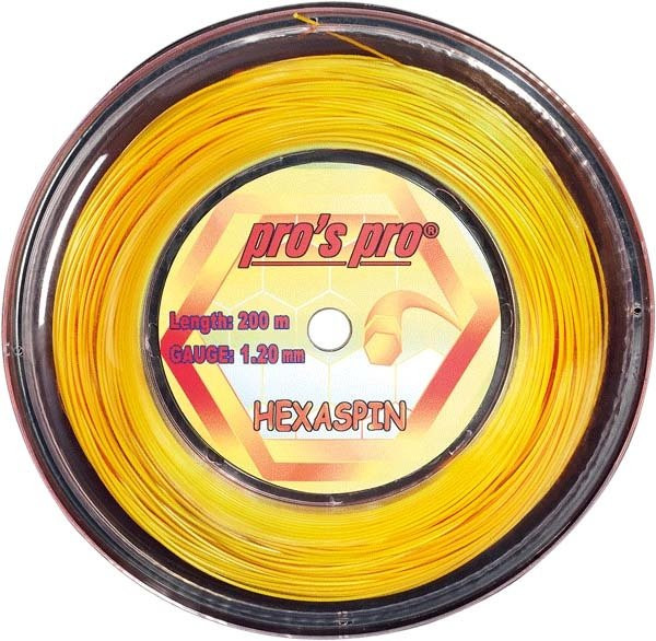 Tennisekeeled Pro's Pro Hexaspin (200 m) - gold