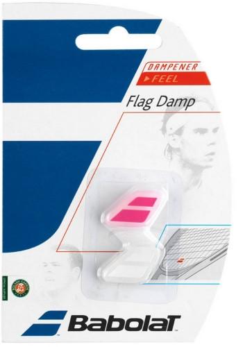 Vibration dampener Babolat Flag Damp - white/pink