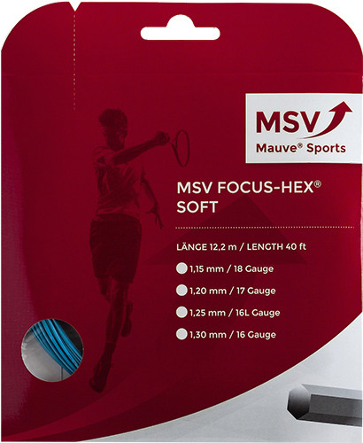Tennis String MSV Focus Hex Soft (12 m) - sky blue