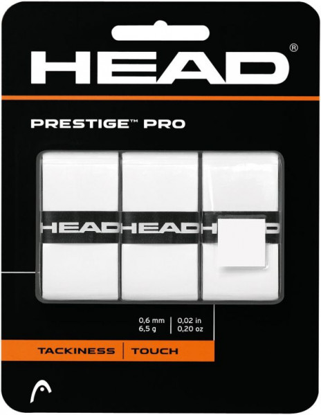 Owijki tenisowe Head Prestige Pro (3 szt.) - white