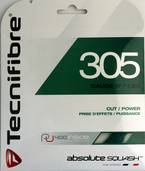 Squash strings Tecnifibre 305 New (9,7 m) - green