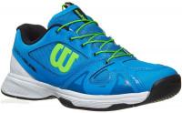 Juniorskie buty tenisowe Wilson Rush Pro Junior QL - brilliant blue/white/green gecko