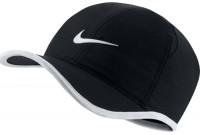 Czapka tenisowa Nike Dry Youth Featherlight Cap - black/white