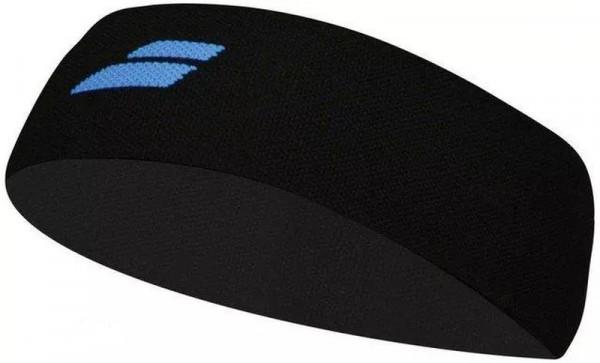 Babolat Logo Headband - black/diva blue