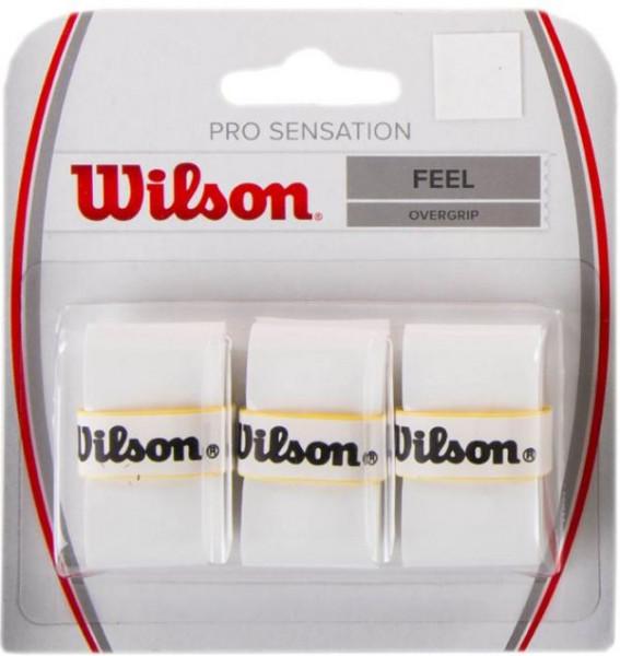 Viršutinės koto apvijos Wilson Pro Sensation (3 vnt.) - white