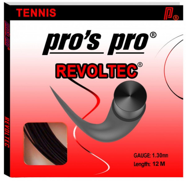 Naciąg tenisowy Pro's Pro Revoltec (12 m) - black