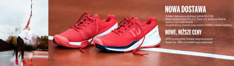 Wilson - nowa dostawa butów do tenisa