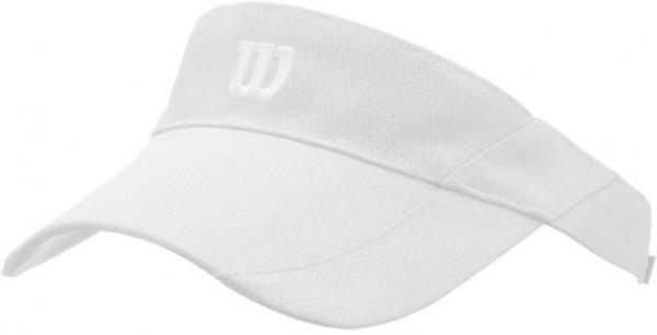 Wilson Rush Knit Visor Ultralight - white/silver