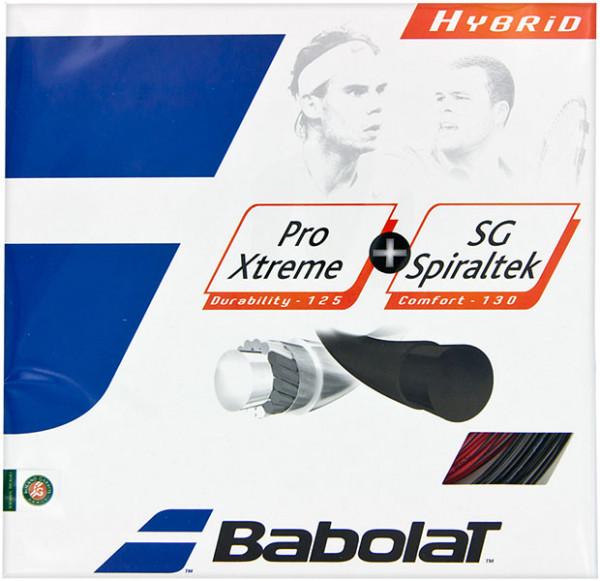 Teniso stygos Babolat Pro Extreme + SG Spiraltek (2x6 m) - black/red