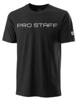 Męski T-Shirt Wilson Pro Staff Franchise Tech Tee - black