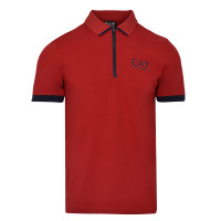 Męskie polo tenisowe EA7 Man Jersey Polo Shirt - racing red