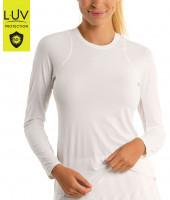 Naiste pikakäiseline tennisesärk Lucky in Love Luv Breeze L/S Crew Women - white