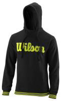 Muška sportski pulover Wilson Chi Script PO Hoody-Slimfit M - black