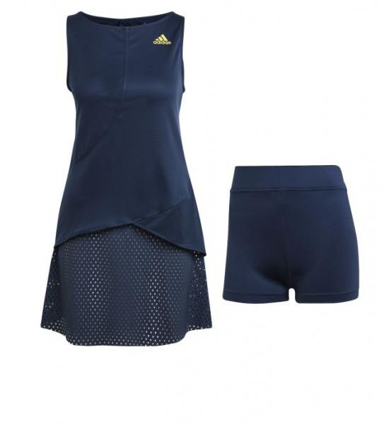 Damska sukienka tenisowa Adidas Heat Ready Primeblue Dress W - crew navy/acid yellow