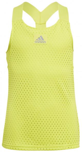 Koszulka dziewczęca Adidas Heat Ready Primeblue Y-Tank Top - acid yellow