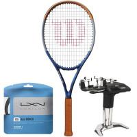 Rakieta tenisowa Wilson Clash 100 Roland Garros Limited Edition + naciąg + usługa serwisowa