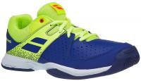 Juniorskie buty tenisowe Babolat Pulsion All Court Junior - blue/fluo aero