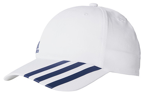 Adidas Climalite 3-Stripes Off-Centered Hat - white/collegiate navy
