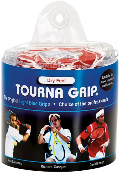 Owijki tenisowe Tourna Grip Dry Feel Tour Pack (30 szt.) - blue