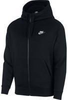 Tenisa džemperis vīriešiem Nike Swoosh M Club Hoodie FZ BB - black/black/white