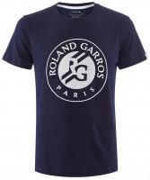 Męski T-Shirt Lacoste Roland Garros Tee - bleu marine/white