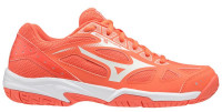 Buty do squasha Mizuno Cyclone Speed 2 - living coral/snow white/white