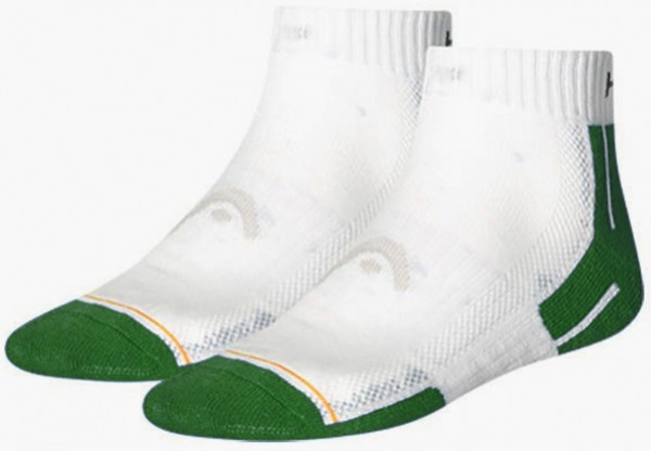Tenisa zeķes Head Performance Quarter - 2 pary/white/green combo