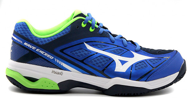 Buty Tenisowe Mizuno Wave Exceed AC - strong blue white dress bl ... 7665b83213
