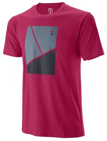 Koszulka chłopięca Wilson B Tramline Tech Tee - granita