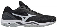 Buty do squasha Mizuno Wave Stealth V - black/white/ebony