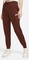 Damskie spodnie tenisowe Nike NSW Essential Pant Regular Fleece W - bronze eclipse/white