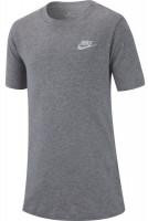 Nike NSW Tee Embedded Futura B - dark grey heather/white