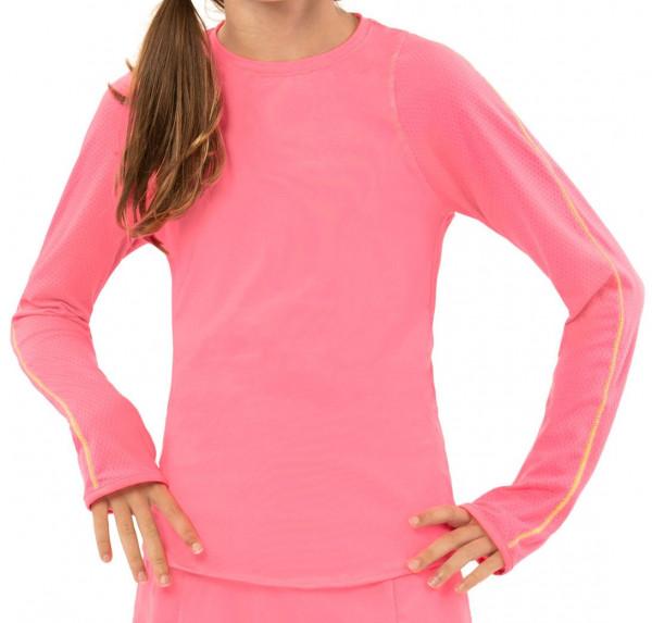 Majica kratkih rukava za djevojčice Lucky in Love Core L/S Athletic Crew G - neon pink