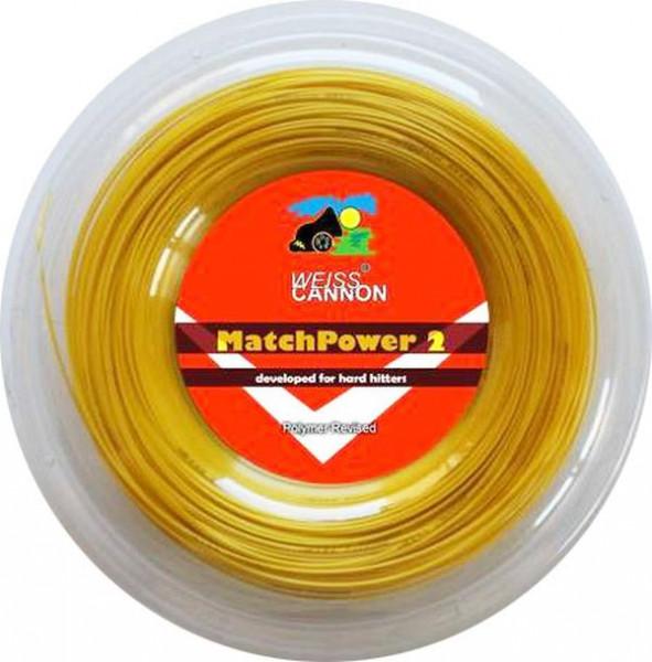 Naciąg tenisowy Weiss Cannon Match Power 2 (200 m) - yellow