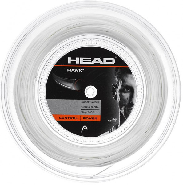 Tenisa stīgas Head HAWK (200 m) - white