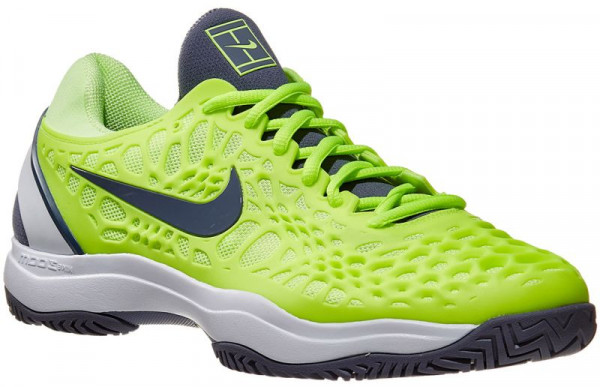 Męskie buty tenisowe Nike Air Zoom Cage 3 - volt glow/light carbon/white
